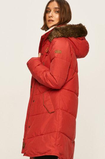 Geaca Roxy matlasata rosie lunga foarte calduroasa cu tehnologie DryFlight