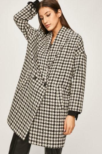 Palton elegant pentru office de lana in carouri Answear